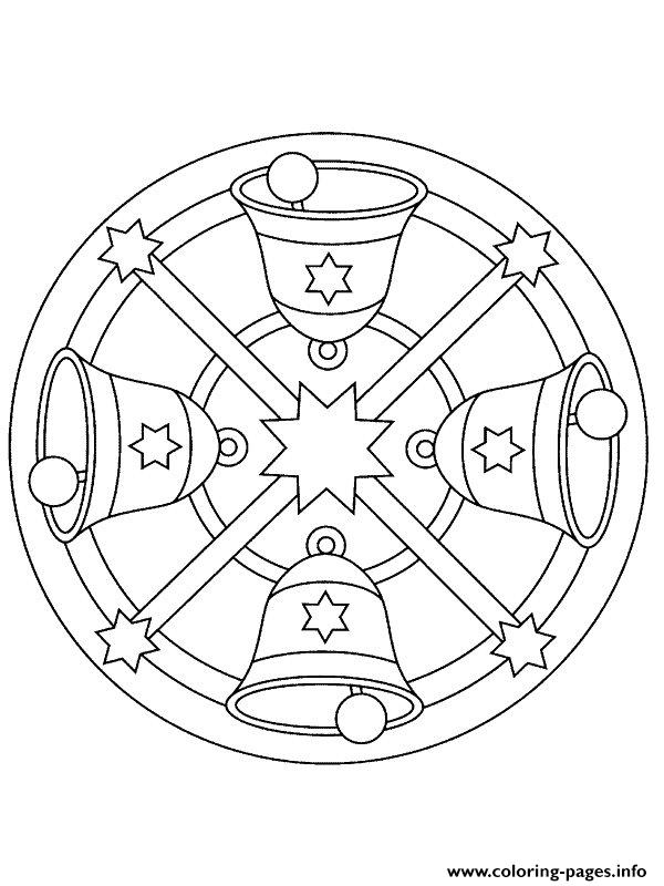 mandala christmas 23 coloring pages