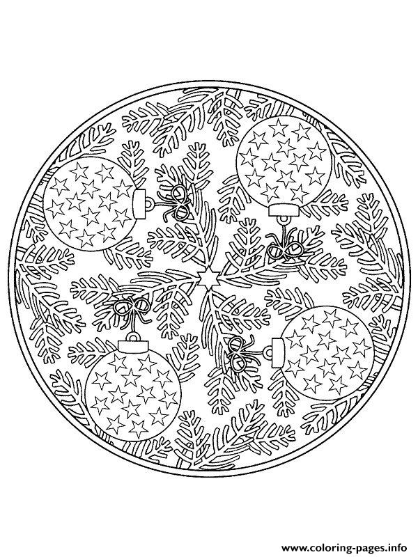 Mandala Christmas 26 coloring pages