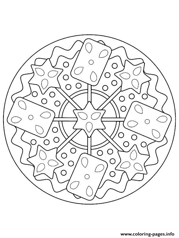 mandala christmas 31 coloring pages