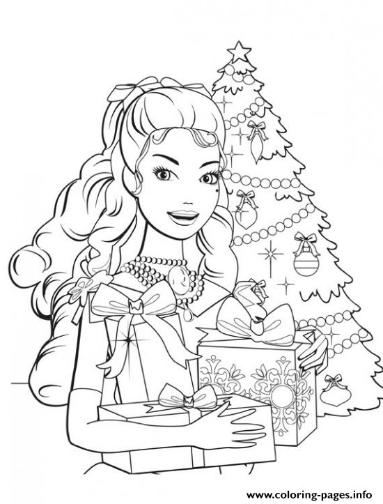 Barbie Princess Christmas Coloring Pages