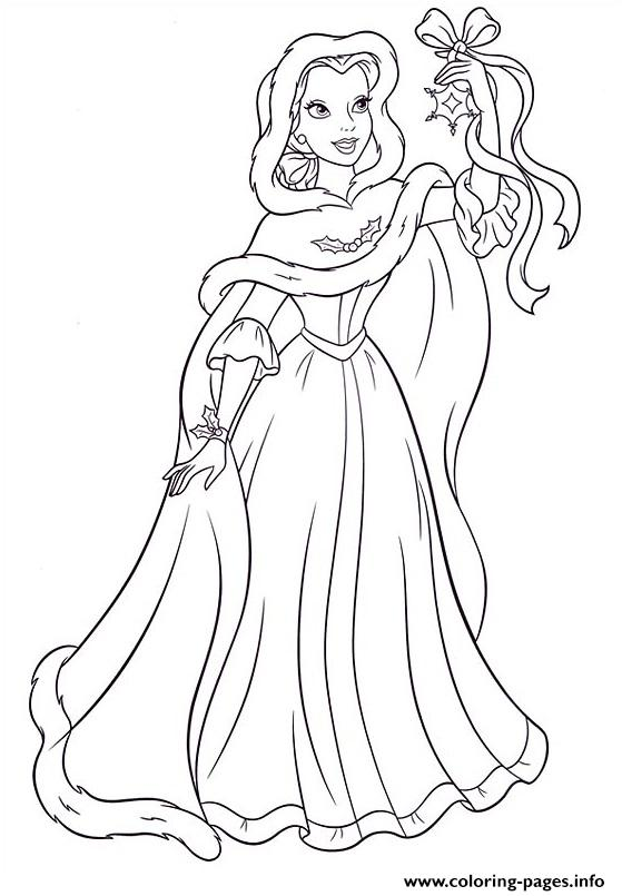 Princess Christmas 06 coloring pages