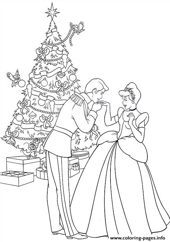 Princess Christmas 08 coloring pages