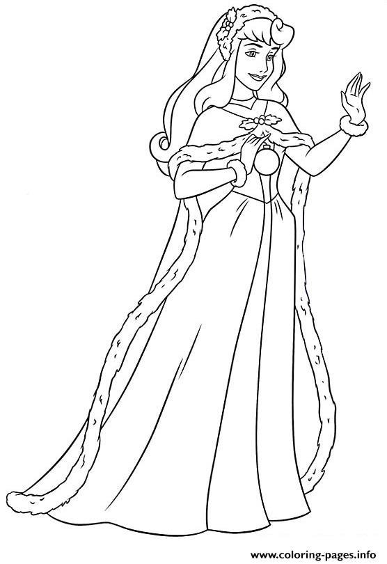 Princess Christmas 06 Coloring Pages
