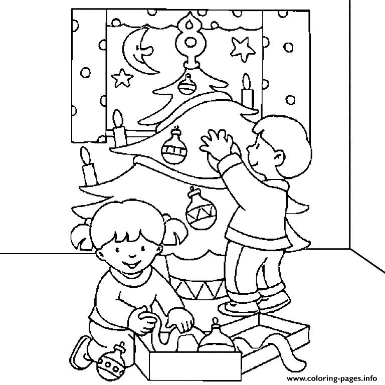Decorating Christmas Tree S For Kids Christmas Printable259c coloring pages