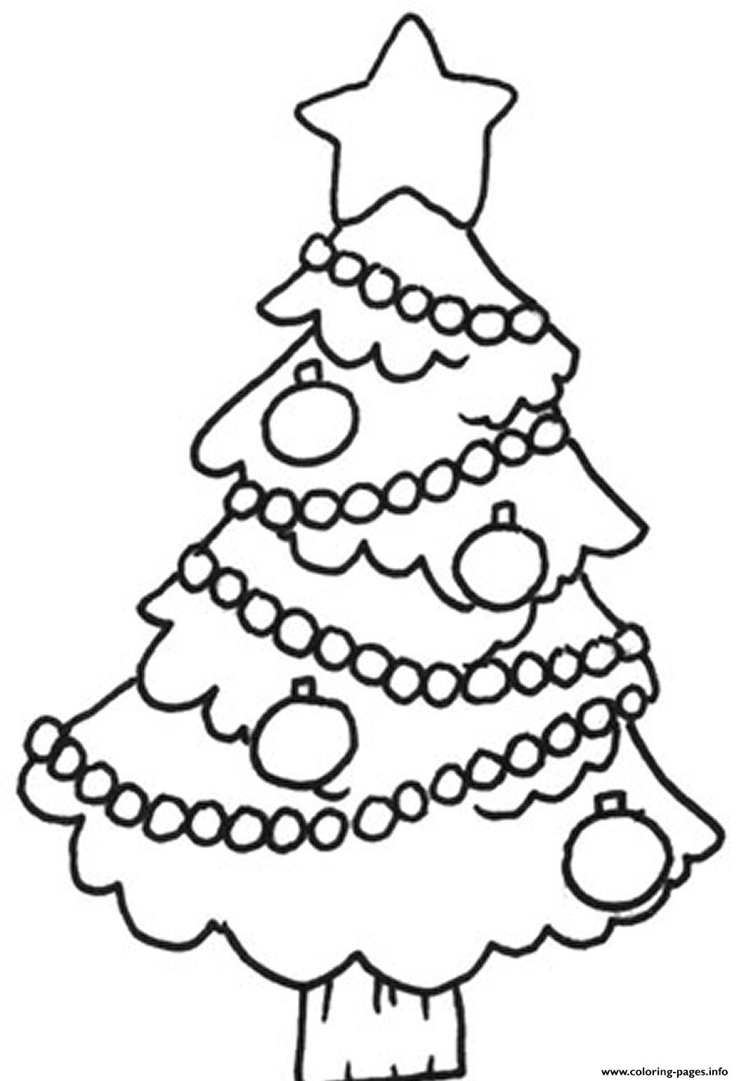 Easy Christmas Tree S For Childrenb7ca coloring pages