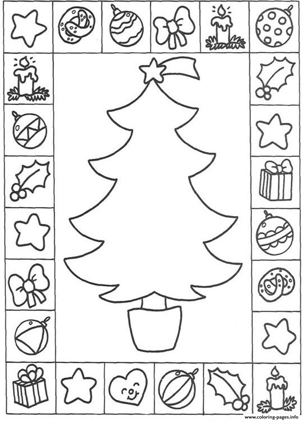 Free S Christmas Tree And Presentsc24c coloring pages