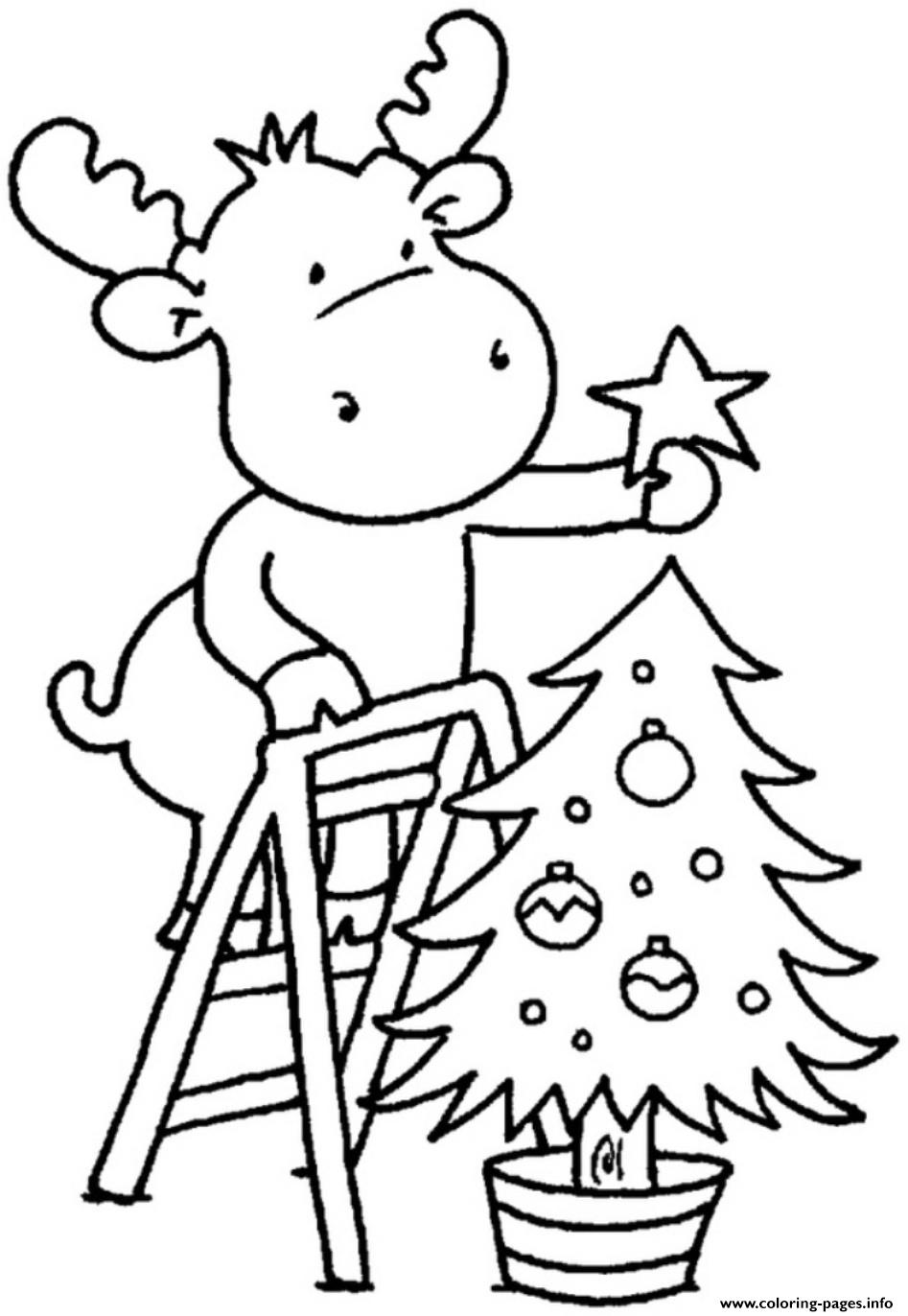 Christmas Tree For Children Coloring