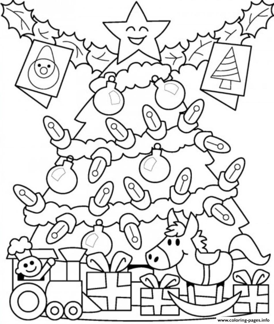 christmas presents coloring page - presents under tree free s for christmas f929 coloring