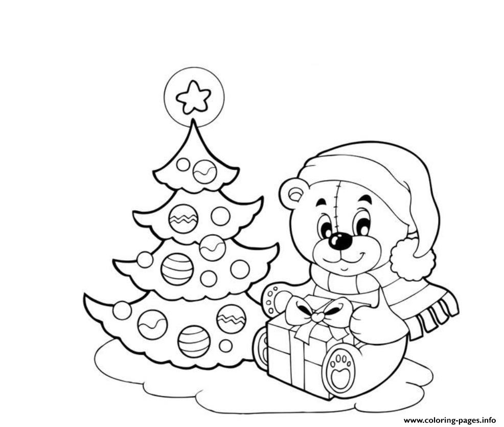 Tree And Doll Christmas E1ed coloring pages
