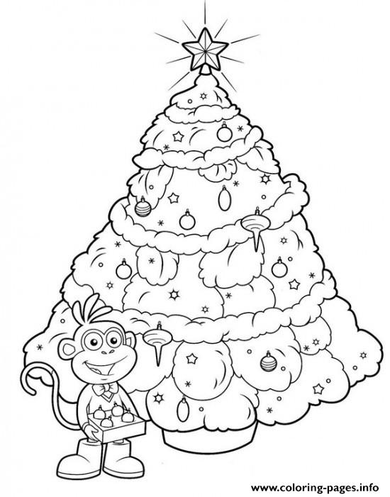 Boots Christmas Tree coloring pages