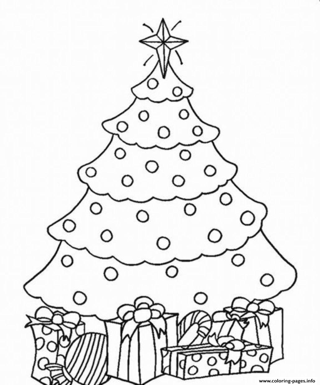 Christmas Tree And Present Coloring