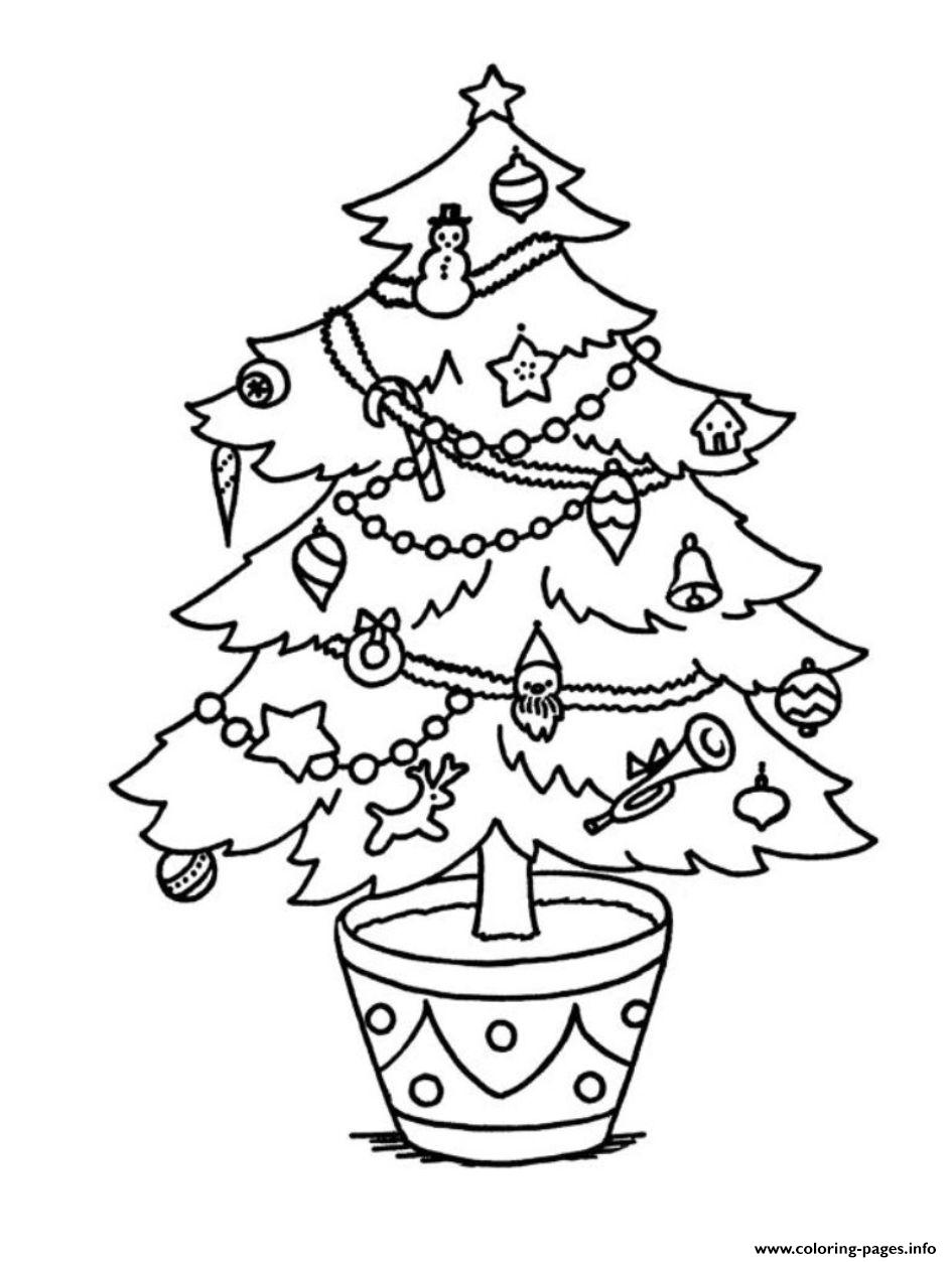 christmas tree for kid coloring pages printable