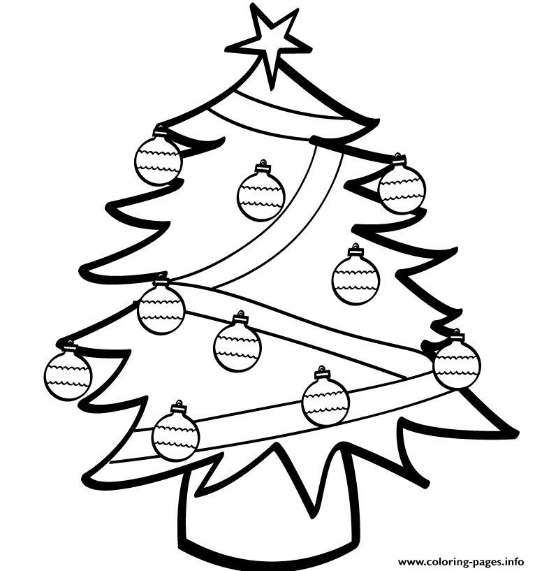 Simple Christmas Tree S84ad coloring pages