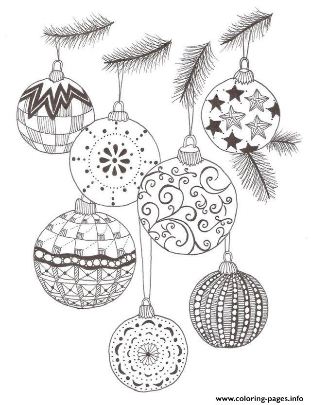 Christmas Adult December 2 Coloring Pages Printable