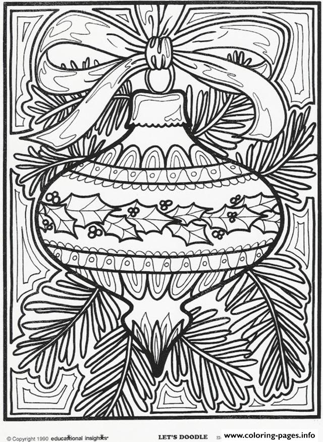 Christmas Ornament For Christmas Coloring Pages Printable