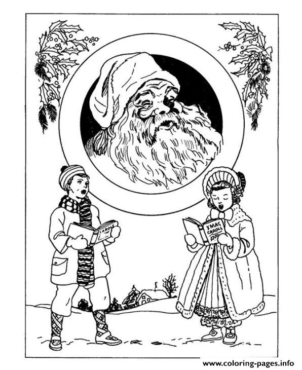 Christmas Adults Traditional coloring pages