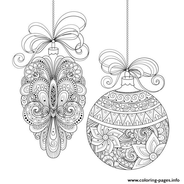Adult Christmas Ornaments By Irinarivoruchko  coloring pages