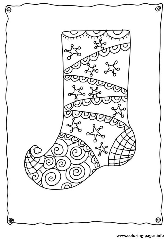 Christmas Adults Sotcking 2  coloring pages