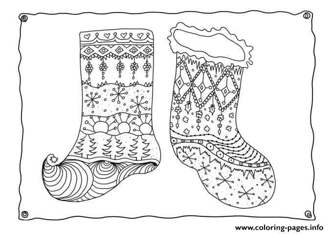 Christmas Adults Sotcking 3  coloring pages