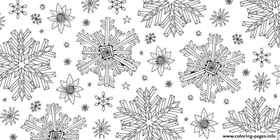 Escape To Christmas For Adults  coloring pages