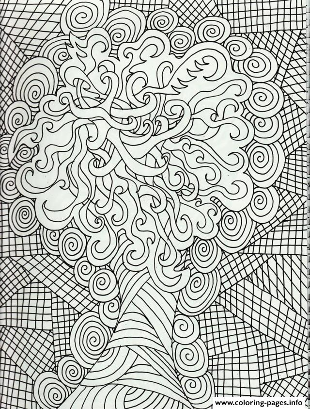 Zen Anti Stress Christmas Adults Coloring Pages Printable