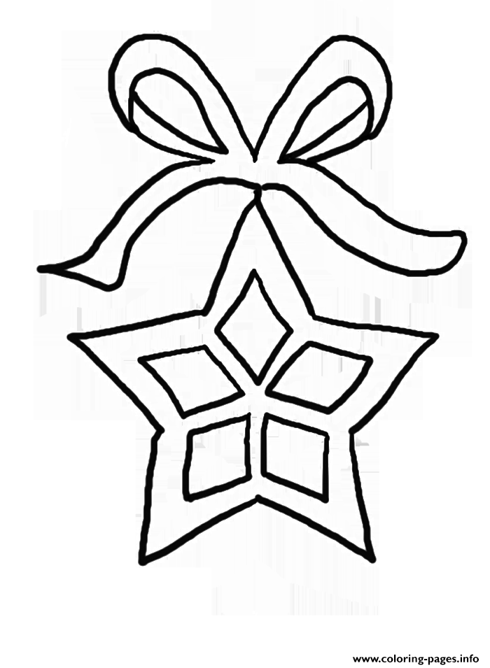 Christmas Stars Printable coloring pages