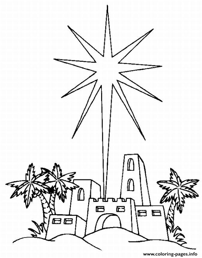 Star Over Bethlehem coloring pages