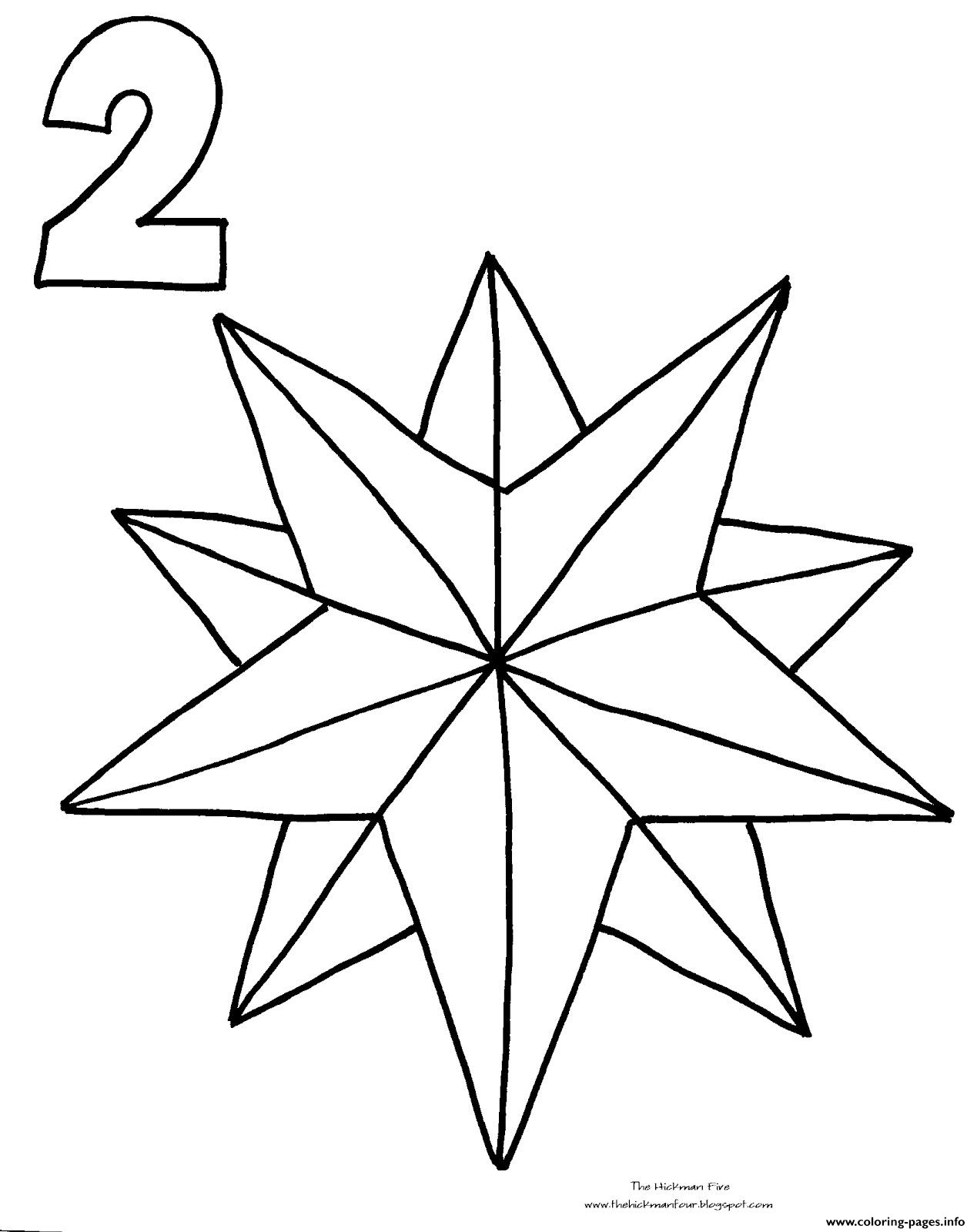 christmas star countdown coloring pages - Shooting Star Coloring Page