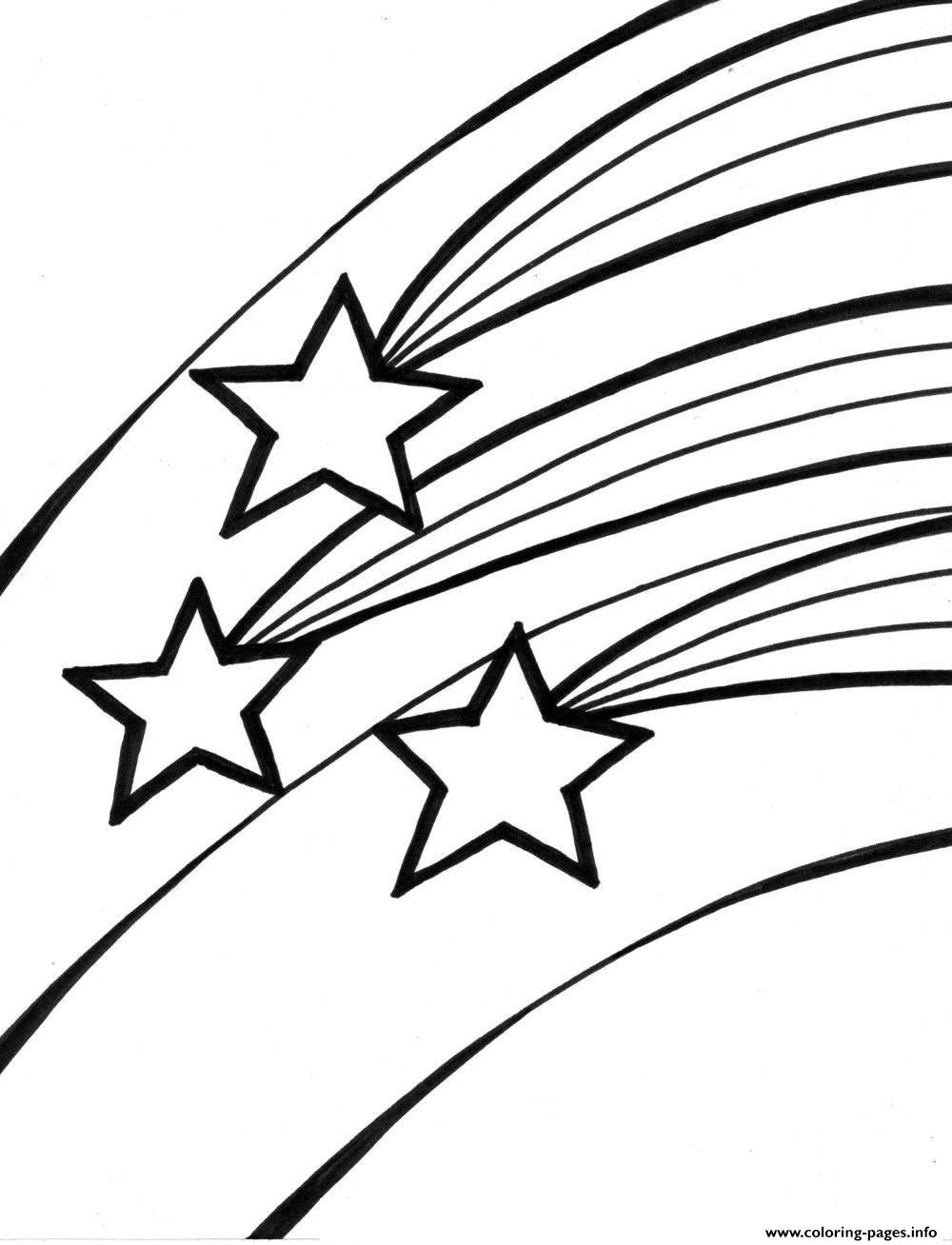 Shooting Stars For Kids Coloring Pages Printable