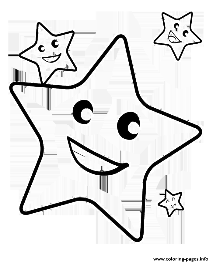 Smile Christmas Stars coloring pages