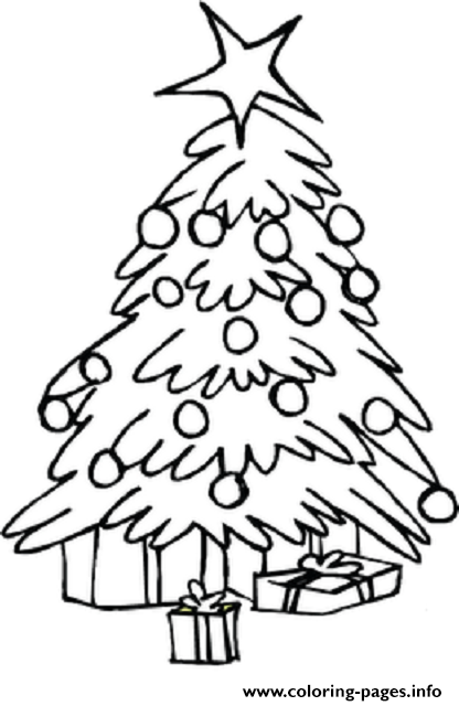 Free Coloring Christmas Tree coloring pages