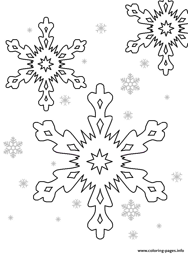 Free Printable Snow Flakes coloring pages