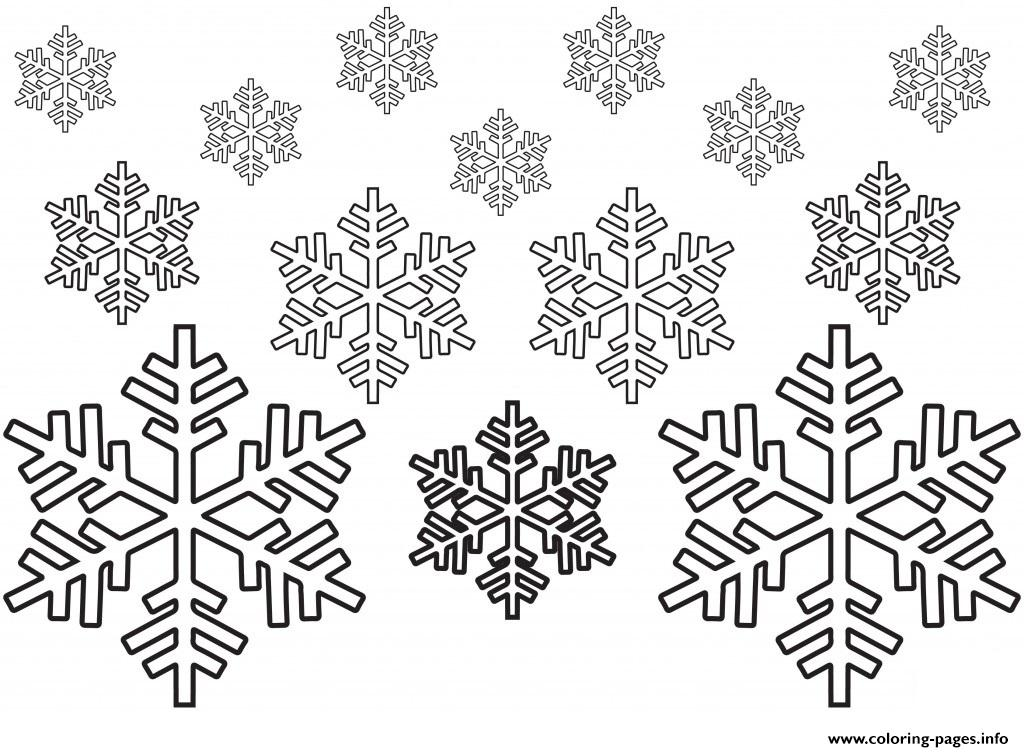 It's just a graphic of Snowflakes Printable for easy