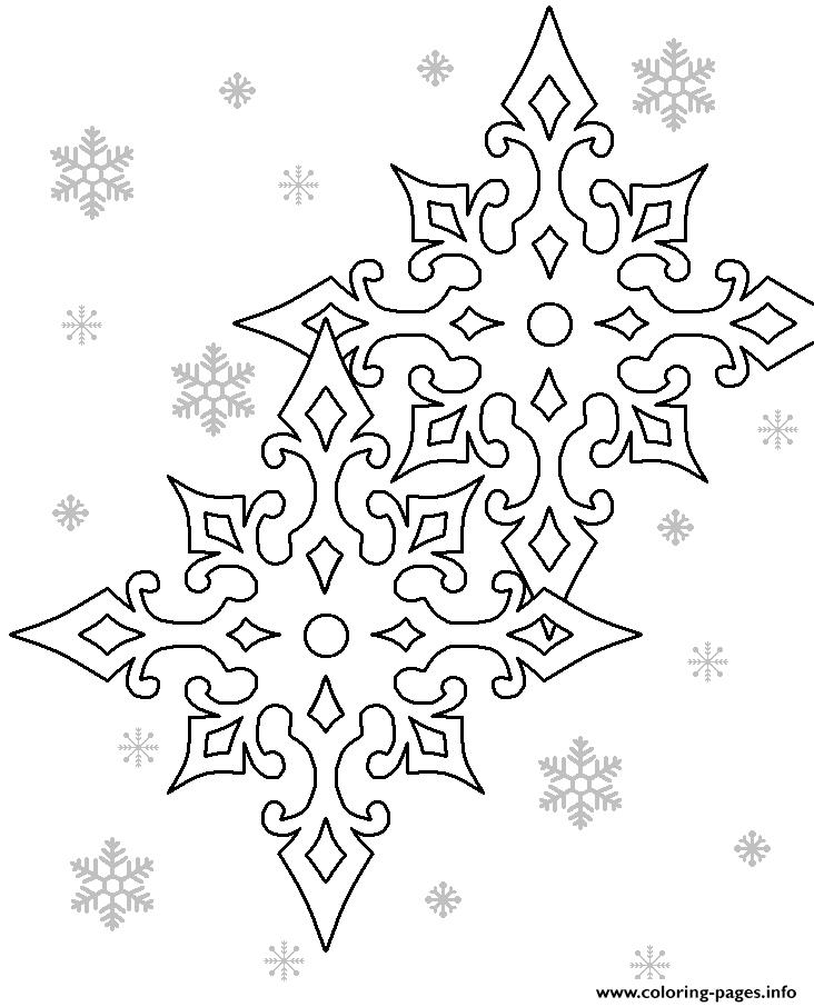 Printable Snowflake Coloring Pages Printable