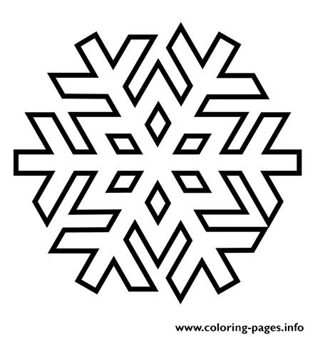 Snowflake 3 coloring pages