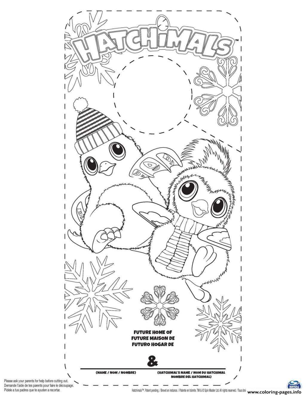Hatchy Hatchimals Color Coloring Pages Printable