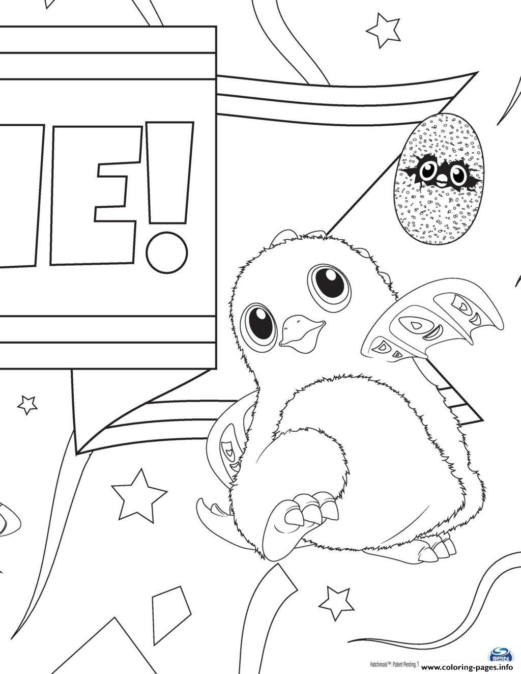 Hatchy Hatchimals Kids Coloring Pages