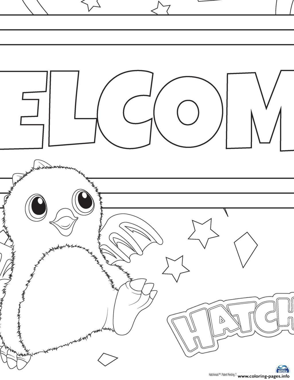 Hatchy hatchimals toy Coloring pages Free Printable