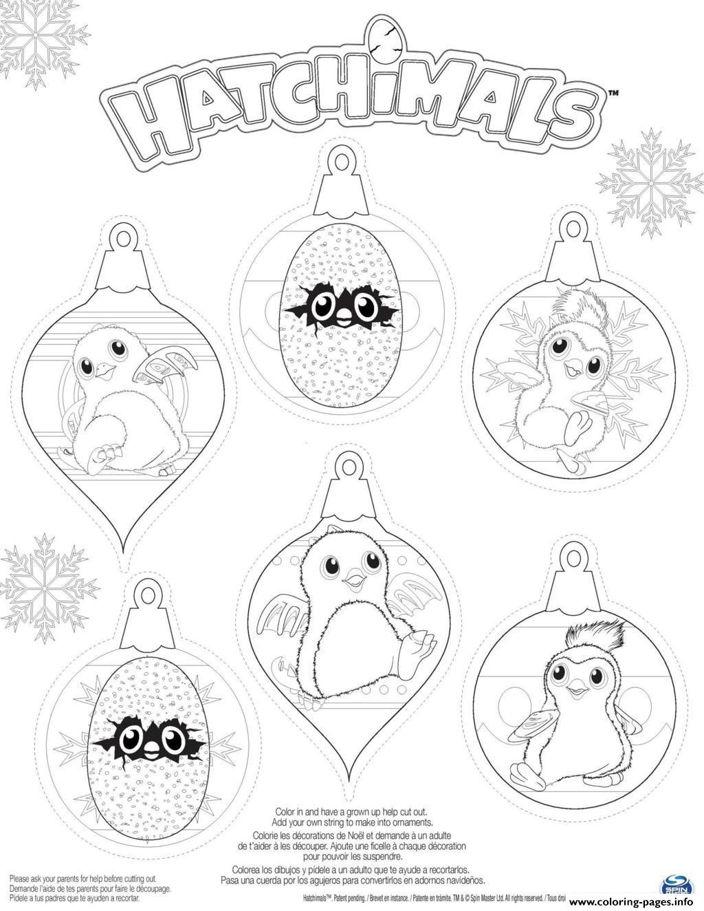 Hatchy Hatchimals Penguala Draggles Coloring Pages