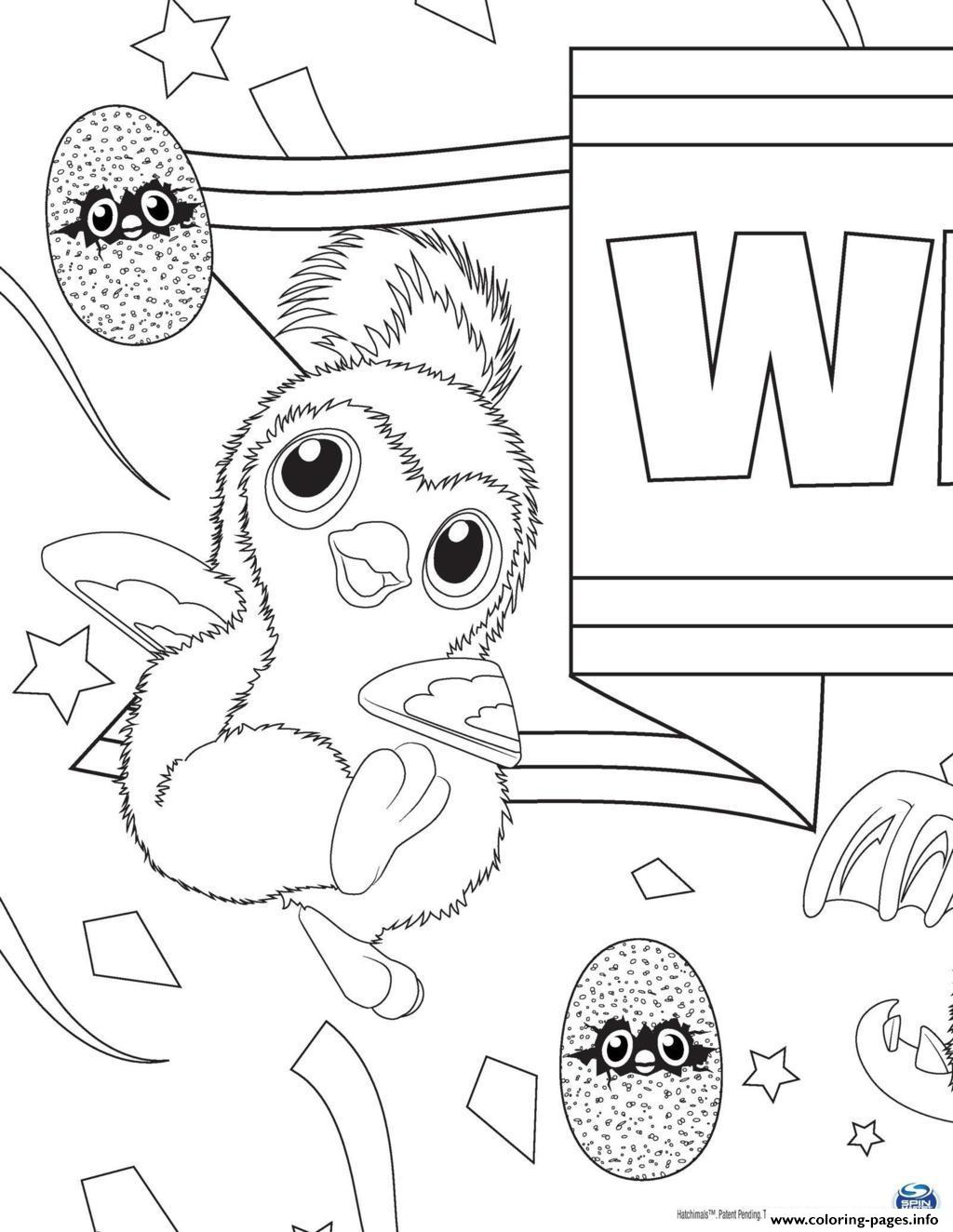 Hatchy Hatchimals Penguala Pink coloring pages