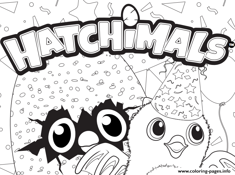 Hatchy Hatchimals Logo Coloring