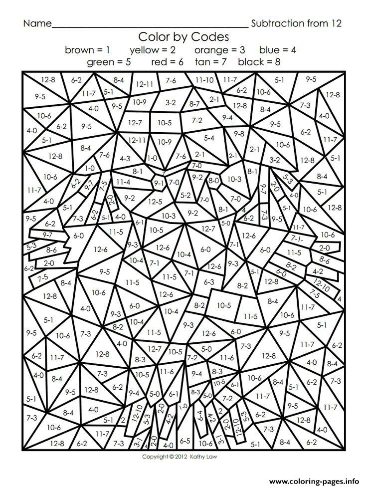 Color By Number Adults Maths Coloring Pages Printable