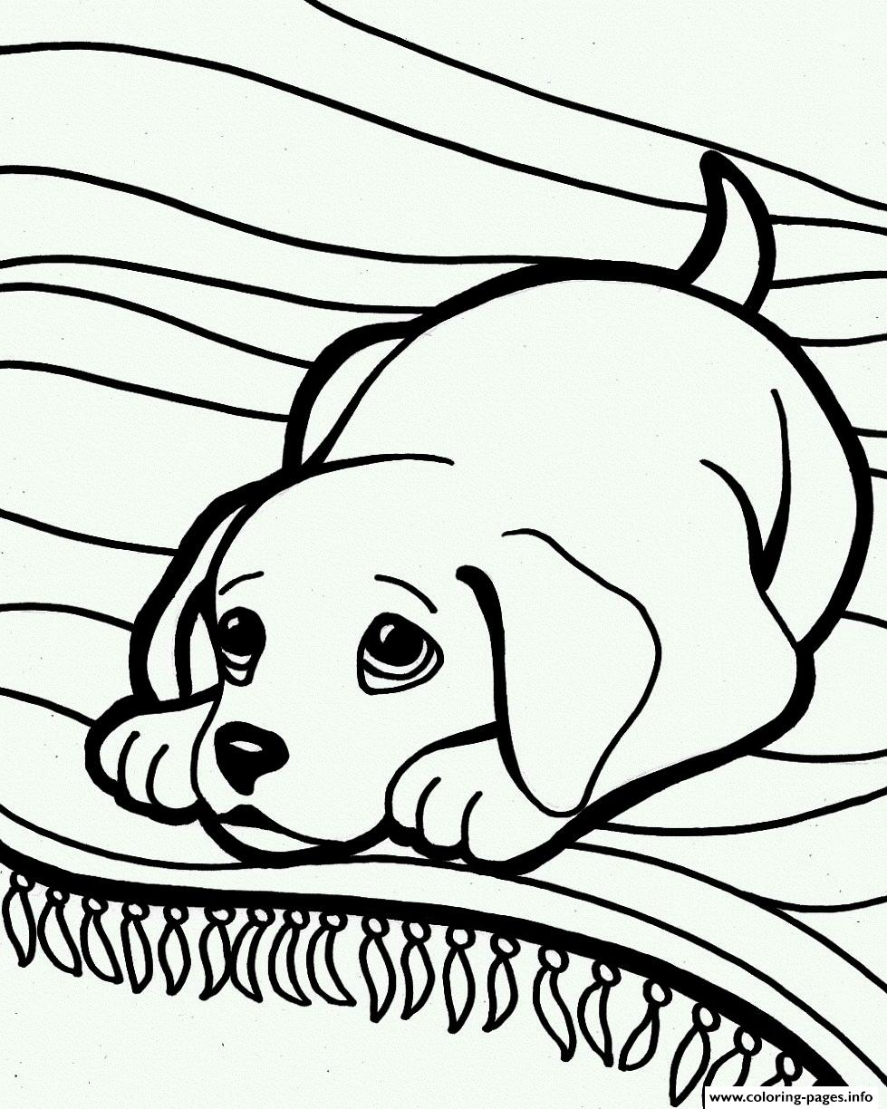 Cute Sleepy Dog 6ea7 coloring pages