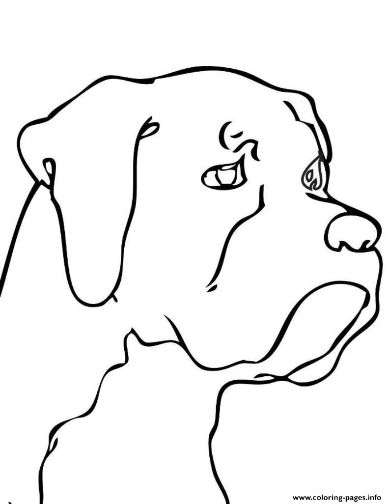 Dog Head S37dc Coloring Pages Printable