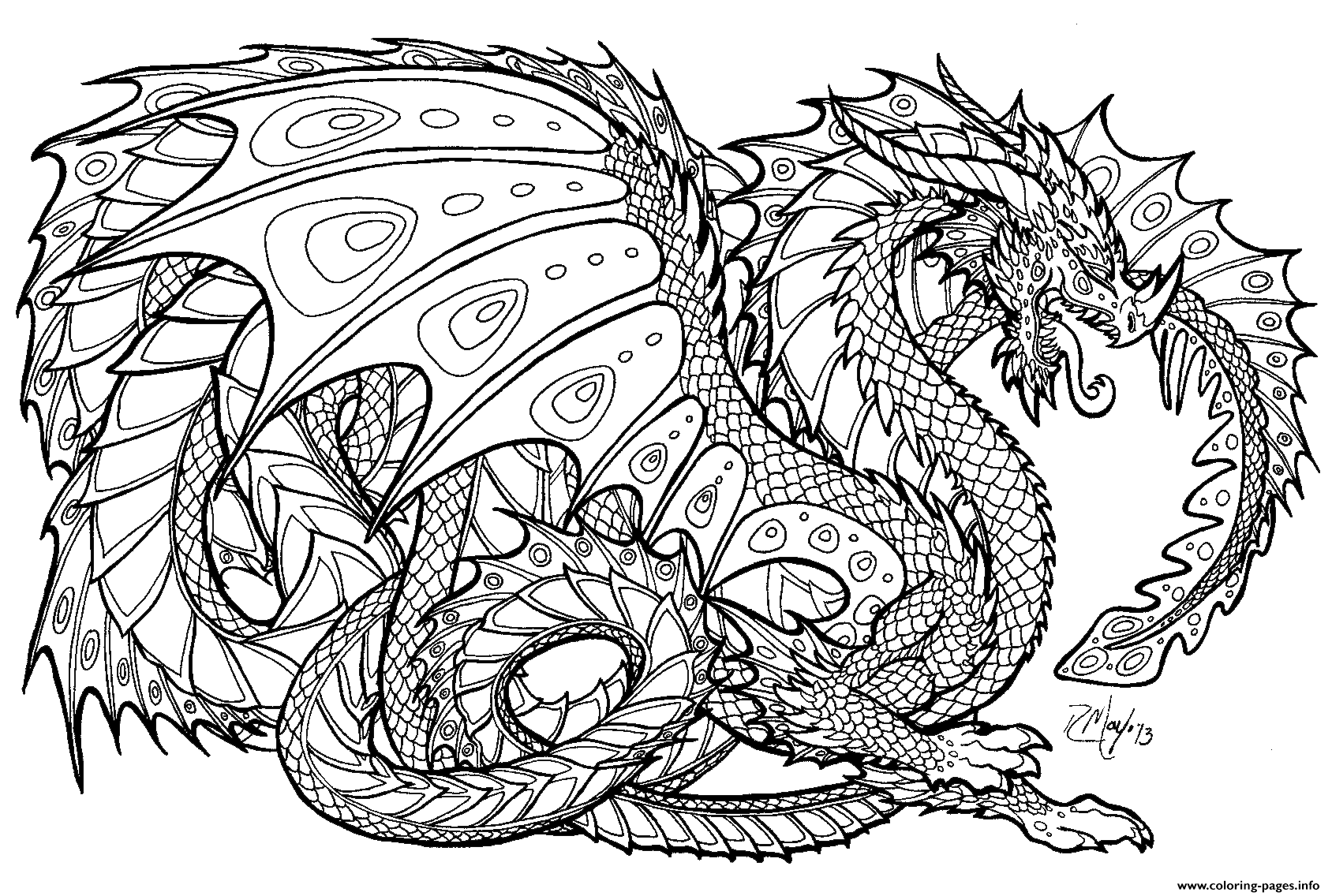 Realistic Dragon Chinese Coloring Pages Print Download 356 Prints