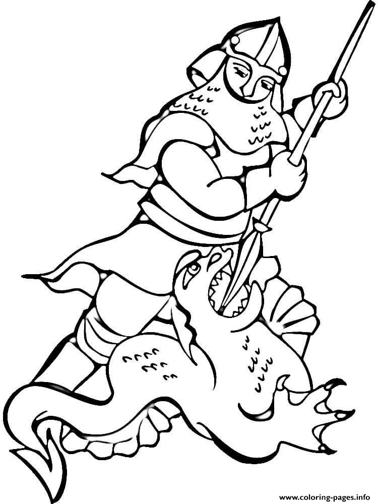 Knight and dragon coloring pages printable for Coloring pages knights