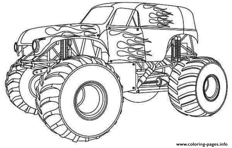 Hot Wheels Monster Truck Kids Coloring Pages Printable
