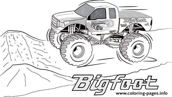 Bigfoot Monster Truck 2 coloring pages