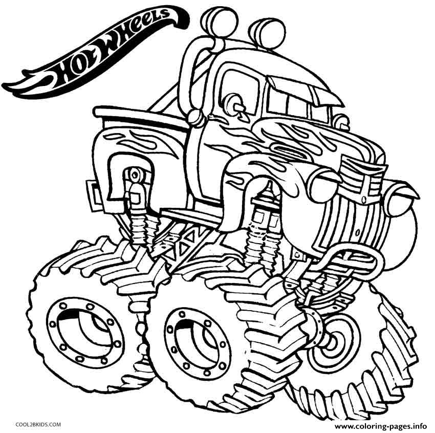 Hot Wheels Monster Truck2 coloring pages