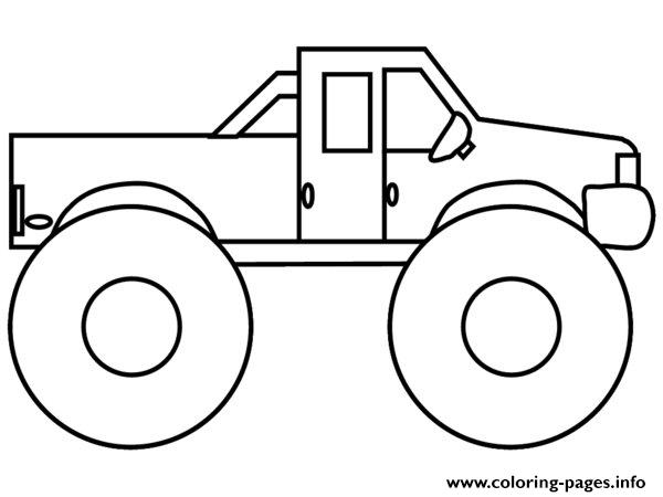 Very Easy Monster Truck Coloring Pages Printable